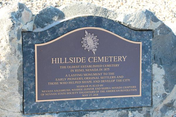 Placard at the Hillside Cemetery