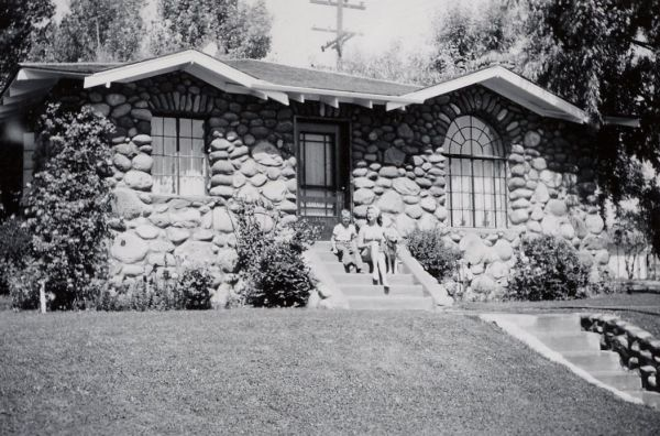 A Stone House on Lander Street ca 1943